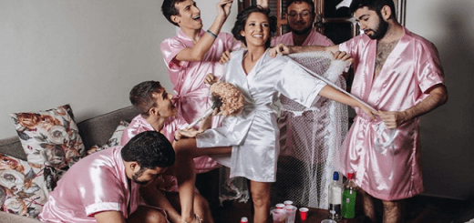 This Bride Has No Girlfriends So Her Best Male Buddies stepped in for a Hilarious Photoshoot That Has Gone Viral