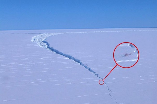The ice shelf is being closely monitored