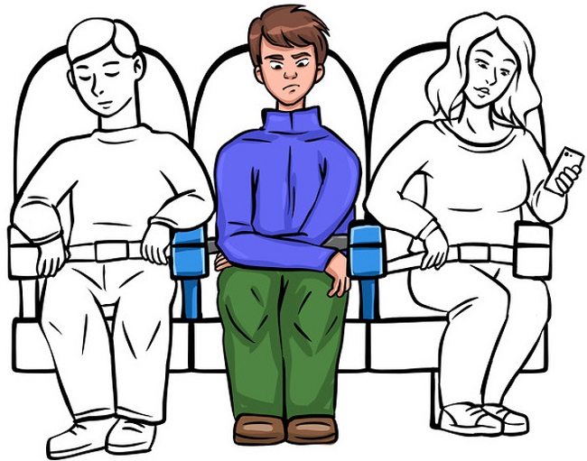 Who gets the middle armrest
