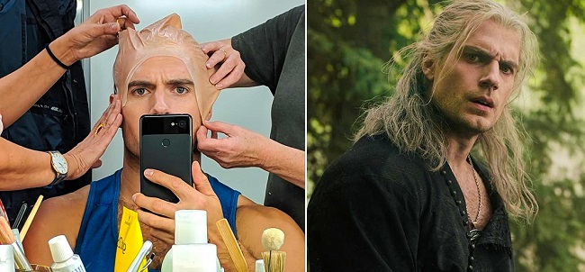 Henry Cavil as The Witcher