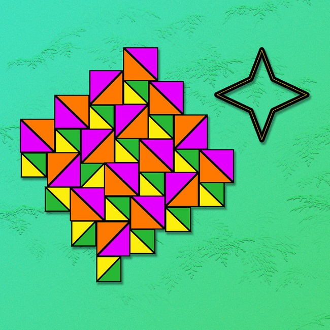 Can you find the star with four points