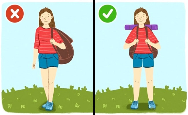 Carrying your backpack