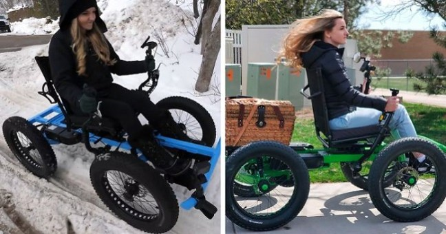 "Man Designs Awesome ""Off the Road Wheelchair"" For Handicapped Wife to Travel Again and Now It's In Mass Production"