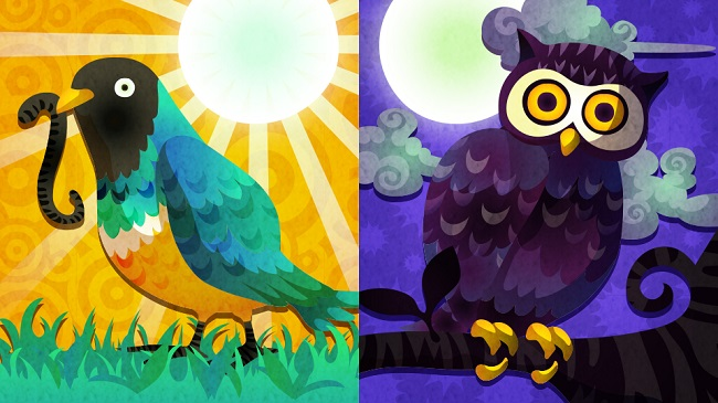 Larks and owls