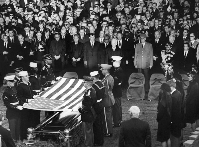 JFK was buried at Arlington National Cemetery
