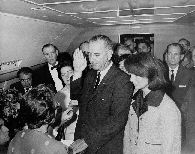 Lyndon Johnson sworn in as President of the United States