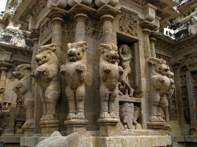 Over four tons of rock to build the awesome Kailasha Temple