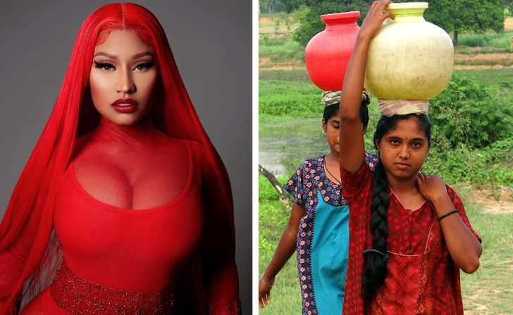Nicki Minaj has been sending money to a village in India to pay for clean water and basic amenities