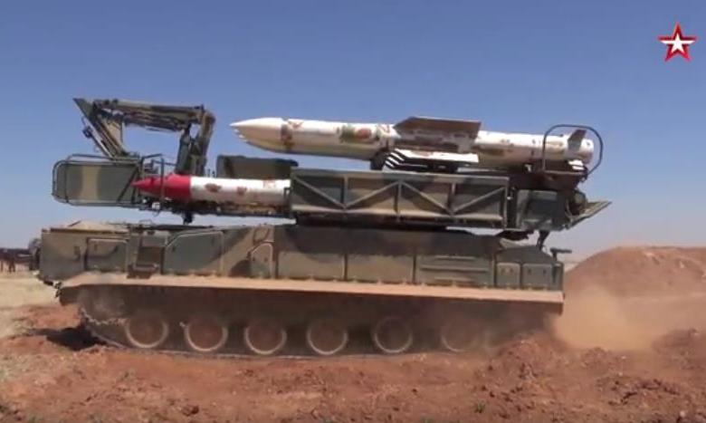 وكالة روسية تعرض تدريبات وحدات الدفاع الجوي السوري ( فيديو )