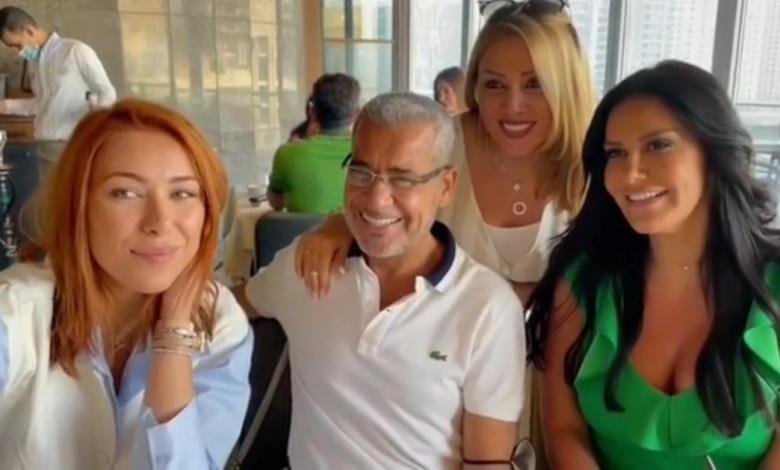 أبرز المشاهير السوريين والفنانين في منزل مصطفى الآغا ( فيديو + صور )