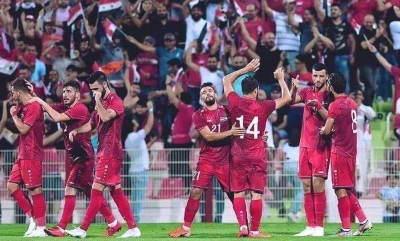 موعد مباريات منتخب سوريا القادمة والقنوات الناقلة في تصفيات آسيا 2023