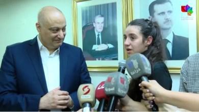 فيديو اسطوري لاستقبال هند ظاظا أصغر لاعبة سورية في أولمبياد طوكيو 2020 وسط دمشق