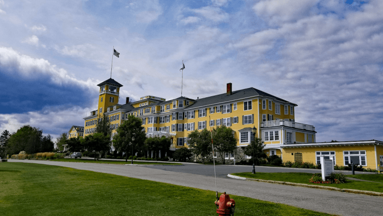 The Mountain View Grand Hotel in Whitefield is one of the grand hotels in the White Mountains