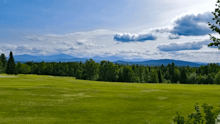 View of the White Mountains of New Hampshire