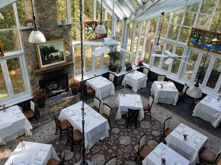 The Conservatory at Goodstone Inn also has a large collection of Virginia wine
