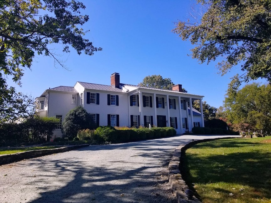 The Manor House at the Clifton Inn in Charlottesville Virginia