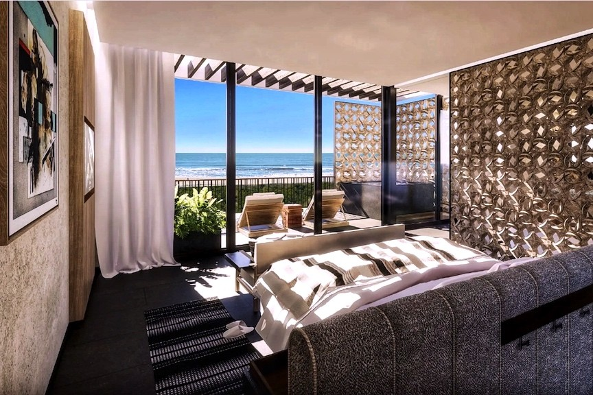 Spacious room with an ocean view at Etéreo, Auberge Resorts Collection