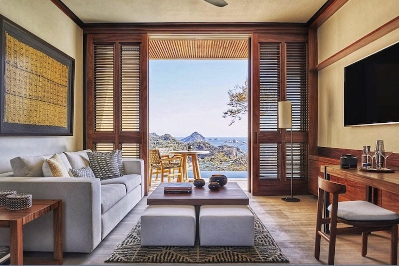 Living Space at the Four Seasons Resort, Tamarindo Mexico