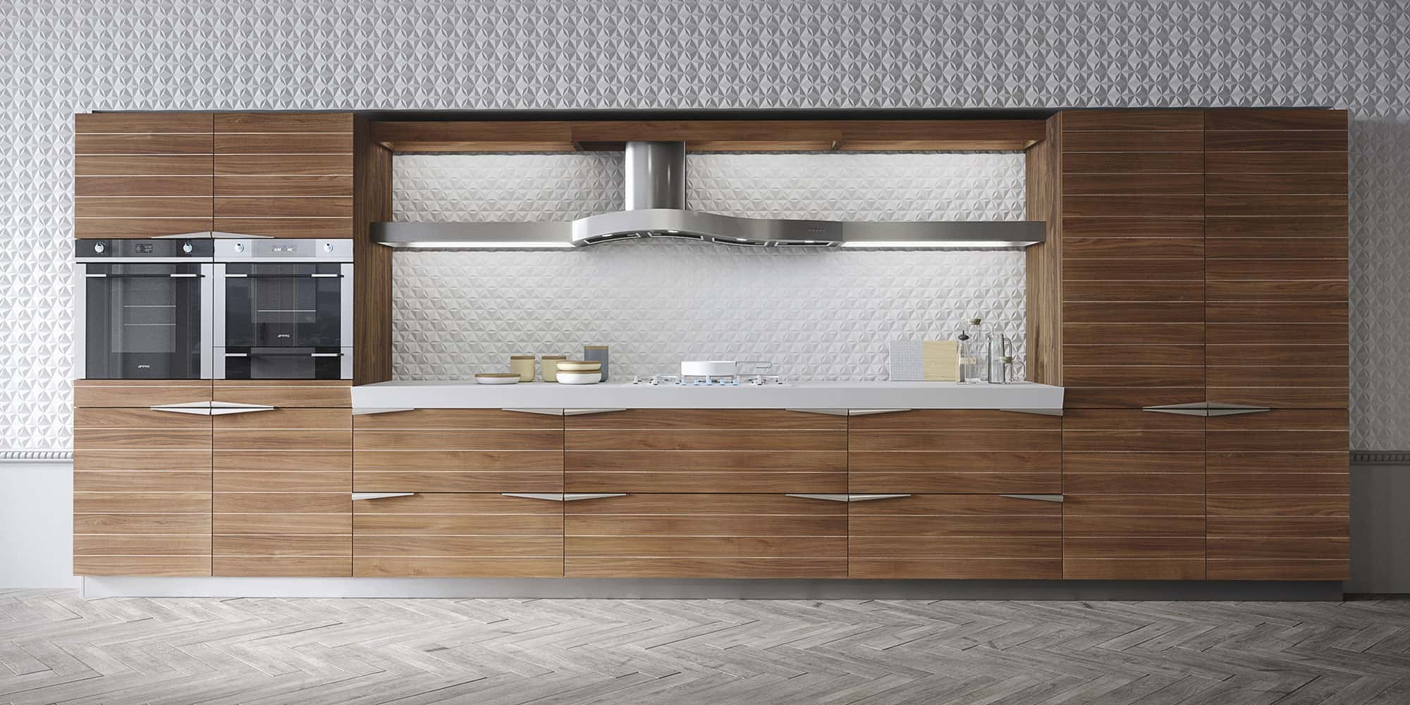 Cucina In Teak Time Kitchen By Snaidero In Timeless Teak