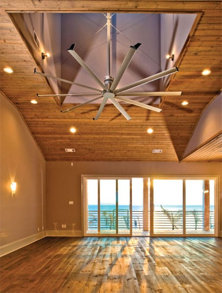 Oversized Ceiling Fan Isis By Big Ass Fans  Designer Homes