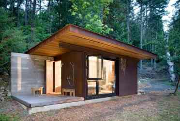 cabin steel room kundig olson modern designs simple cabins tiny houses wood homes outdoor under outside architecture roof cottage glass