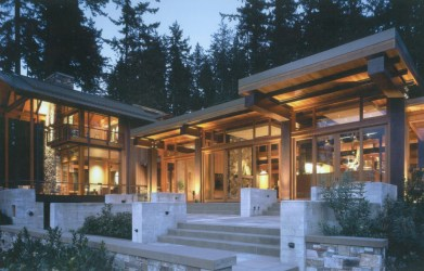 wood island bainbridge awesome stone steel modern wooden views ancient houses woods contemporary mansion glass designs timber forest luxury front