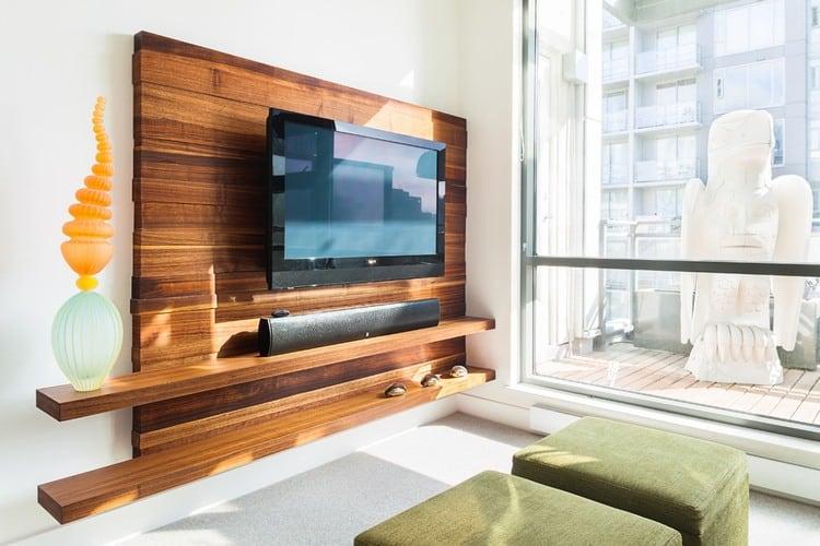 Flat Panel TV Stands: Wooden Decor Ideas