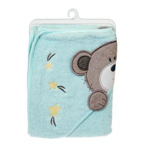 Baby Badcape björn Mint