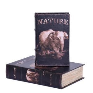 Bokförvaring Elefant 2 set Brun