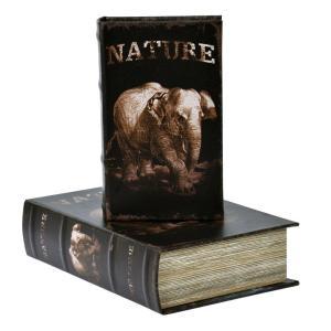 Bokförvaring Elefant 2 set Natur