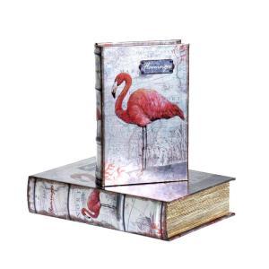 Bokförvaring Flamingo 2 set Rosa/Vit