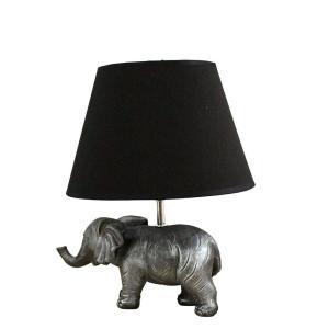 Bordslampa Elefant Antiksilver