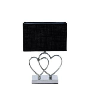 Bordslampa Hjärta Silver/Svart