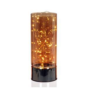Bordslampa Led med timer Klar/Orange