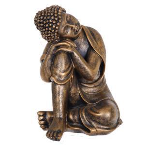 Dekoration Buddha sittande Brons