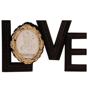 Fotoram Love Guld/Svart