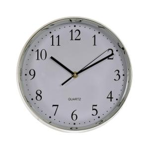 Klocka Ronneby Silver/Vit
