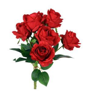 Konstväxt Bukett rosor Röd