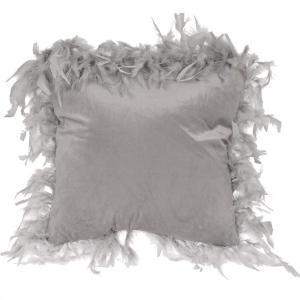 Kudde Fjäder Silver