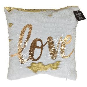 Kudde Love Vit/Guld