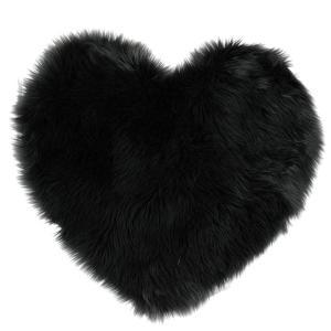 Lammskinn Hjärta Svart