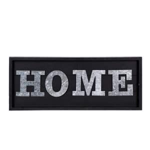Skylt Home Silver/Svart