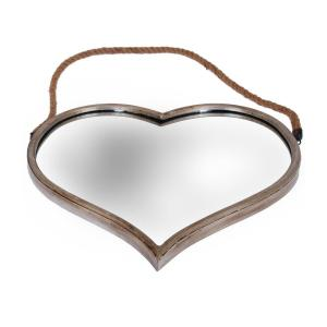 Spegel Hjärta Antiksilver
