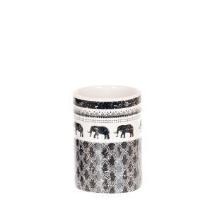 Tandborstsglas Elefant Vit