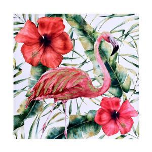 Tavla Blomma flamingo Multi