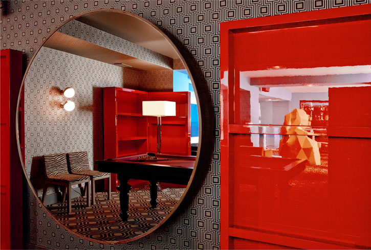Restaurant design germain by india mahdavi for Boutique hotel anahi roma