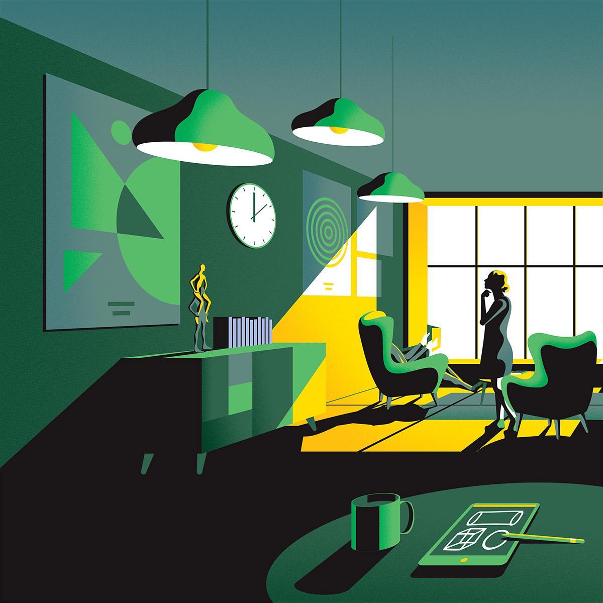 Jack Dalyu0027s U0027Essential Livingu0027 Illustrations