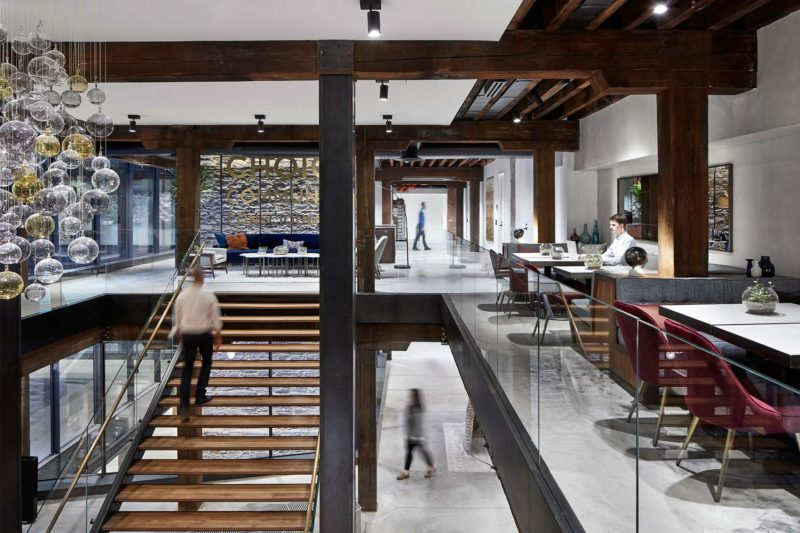 the new west elm headquarters dumbo trendland. Black Bedroom Furniture Sets. Home Design Ideas