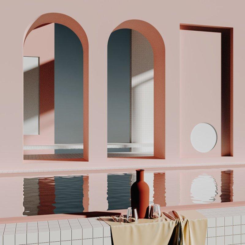 3D Rendering & Digital Art: Suprematism & Constructivism  Digital Art Rendering