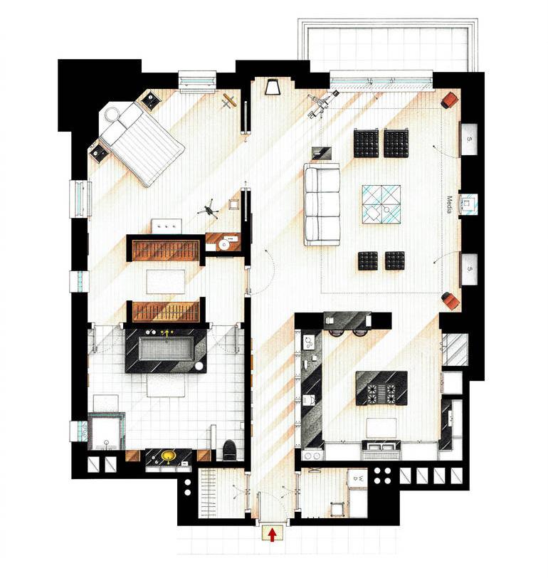 Iñaki Aliste Lizarralde Hand-Drawn Floor Plans Of Popular